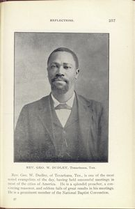 Rev. Geo. W. Dudley, Texarkana, Tex.