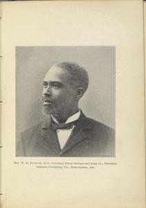 Rev. W. R. Pettiford, D.D., President Penny Savings and Loan Co., President Alabama Publishing Co., Birmingham, Ala.