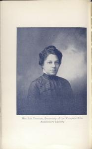 Mrs. Ida Yeocum, Secretary of the Woman's Mite Missionary Society.