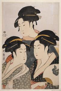 [Tôji san bijin] = [Three beau... Digital ID: 416424. New York Public Library