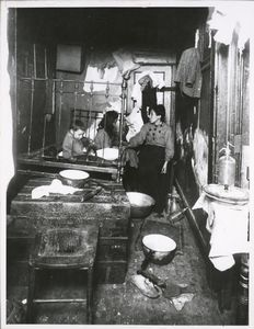 A rear tenement room, New York Digital ID: 416558. New York Public Library