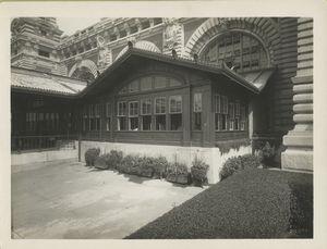Detail of front entrance, U.S. Immigration Station, Ellis Island.