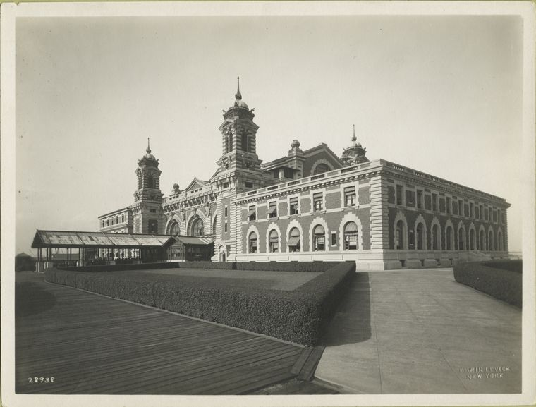 View of the Immigration Station, Ellis Island (front side).