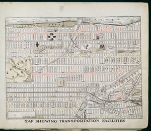 Map showing transportation fac... Digital ID: 417140. New York Public Library