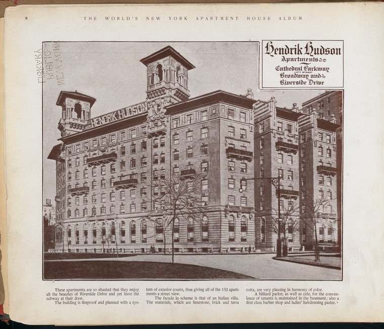 Hendrik Hudson Apartments. Cathedral Parkway  (110 Street), [between] Broadway and Riverside Drive.
