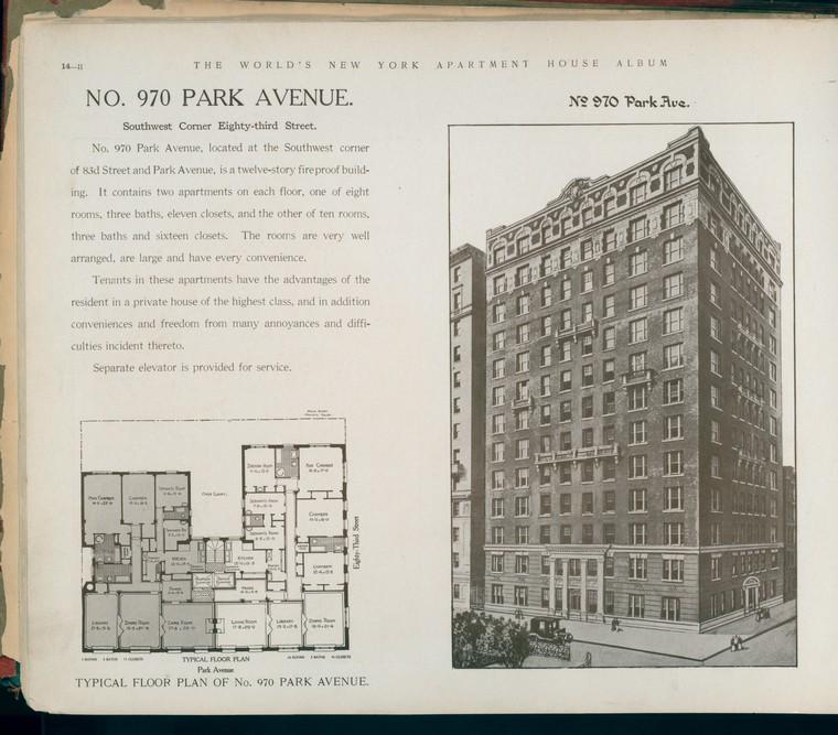 No. 970 Park Avenue. Southwest Corner Eighty-third Street.