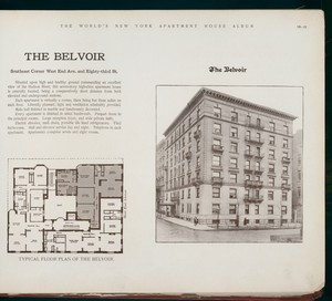 The Belvoir. Southeast Corner West End Avenue and Eighty-third Street.