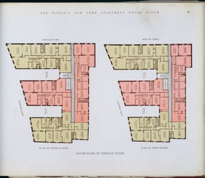 Floor plans of Terrace Court. Digital ID: 417304. New York Public Library