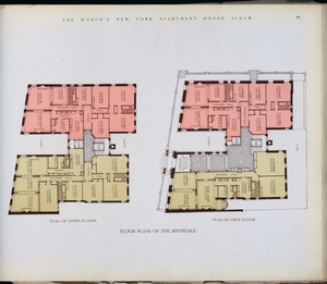 Floor planss of The Riverdale.... Digital ID: 417306. New York Public Library