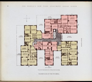 Floor plans of The Wyoming.  Digital ID: 417311. New York Public Library