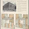 Southeast corner Broadway and 180th Street; Plan of first floor; Plan of upper floors.
