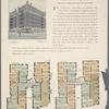The Continental, northeast corner Broadway and 177th Street; Plan of first floor; Plan of upper floors.