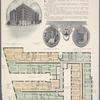 Fowler Court, [north corner of 112th Street and Riverside Drive]; [Typical floor plan]; Court entrance on 112th Street; Court entrance on Riverside Drive.