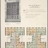 The San Maria, No. 520 West 114th Street, between Broadway and Amsterdam Avenue; Plan of first floor; Plan of upper floors.