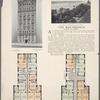 The Westerfield, 610 West 116th Street; Plan of upper floors; Plan of first floor; View from The Westerfield looking West