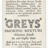 'Greys' smoking mixture. (Sealed in tin; pipe.)