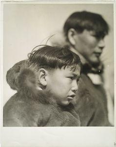 Point Barrow, Alaska, Eskimo family at N.Y. World's Fair, 1939.