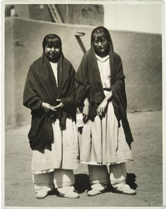 Two maids of Taos, N.M., 1925.