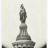 Bronze figure of freedom.