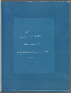 [Dedication to Anna Atkins's father, John George Children.]