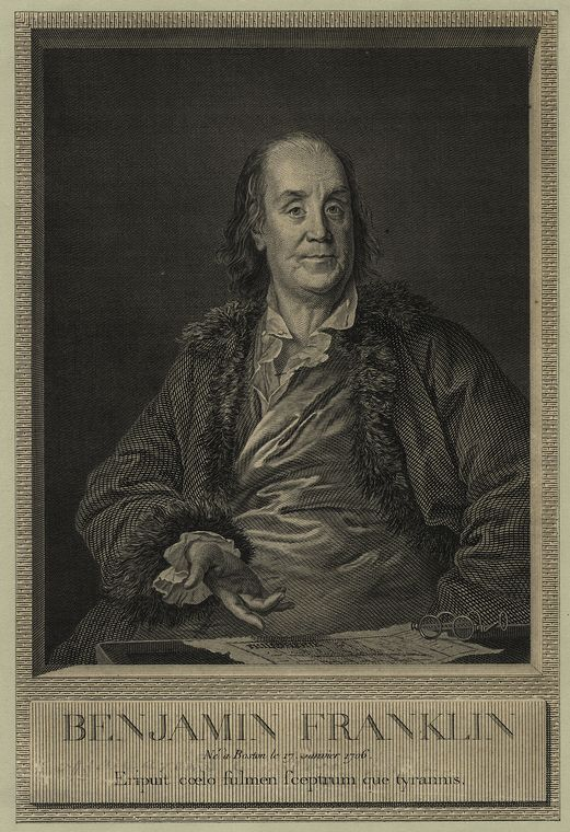 This is What Benjamin Franklin Looked Like  in 1790