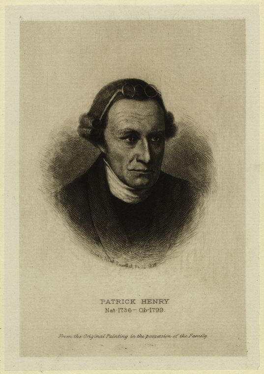 Fascinating Historical Picture of Patrick Henry in 1850