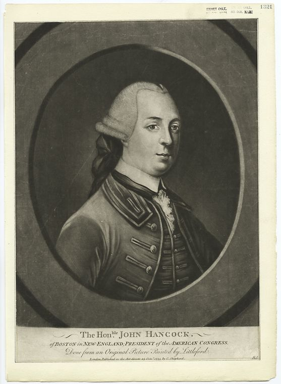 This is What John Hancock Looked Like  in 1775