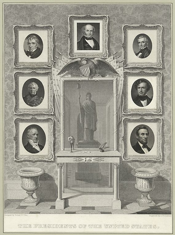 This is What John William Casilear and The presidents of the United States Looked Like  in 1798