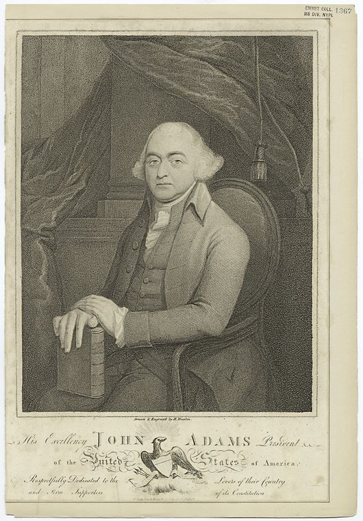 This is What John Adams Looked Like  in 1798