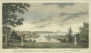 View near Bordenton, from the gardens of the Count de Survilliers.