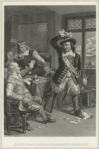 Govr. Stuyvesant destroying the summons to surrender N.Y.