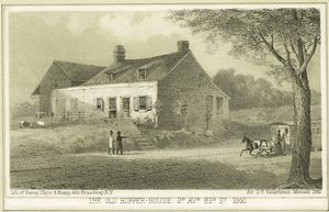 The old Hopper House 2d Ave. 83rd St. 1860 / Sarony, Major & Knapp