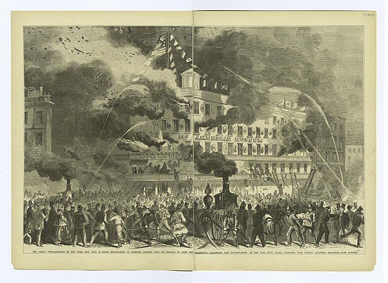 This is What Barnums American Museum Looked Like  on 1/1861