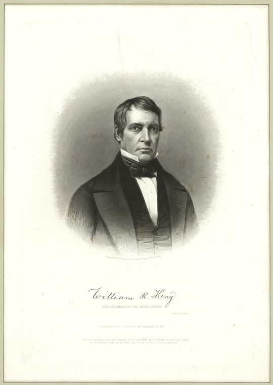 Fascinating Historical Picture of King, William R. in 1852