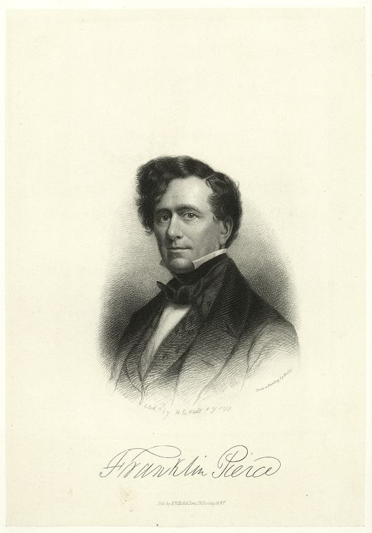 This is What G. P. A. Healy and Franklin Pierce Looked Like  in 1877