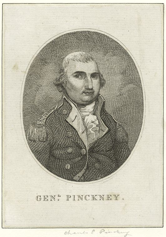 Fascinating Historical Picture of Charles Cotesworth Pinckney on 1/1759