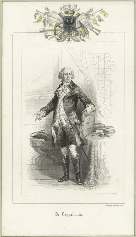 Fascinating Historical Picture of Louis-Antoine de Bougainville in 1778