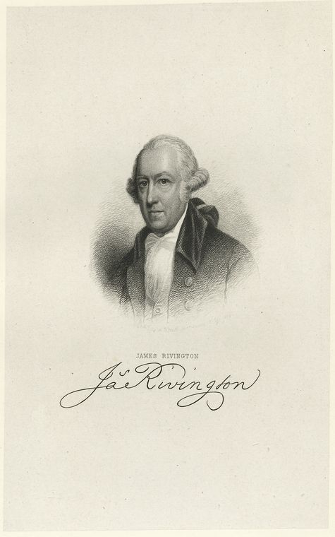 Fascinating Historical Picture of James Rivington in 1778