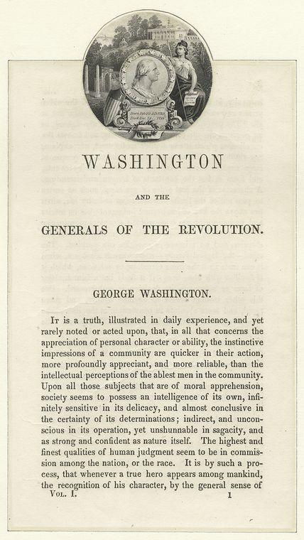 [Medallion with profile of Washington.]