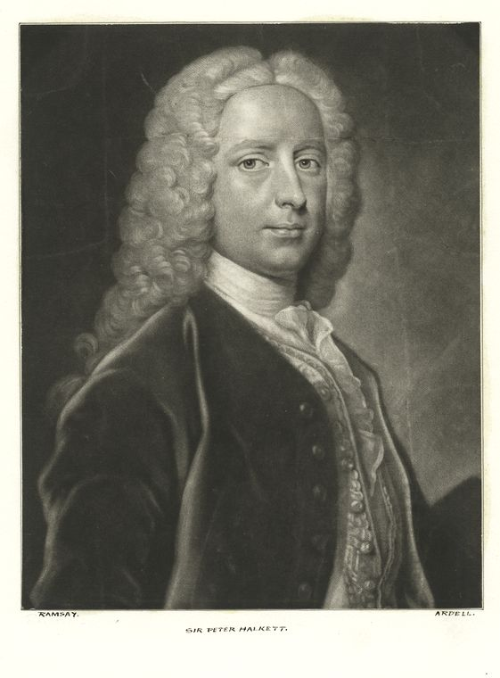 Fascinating Historical Picture of Peter Halket in 1775