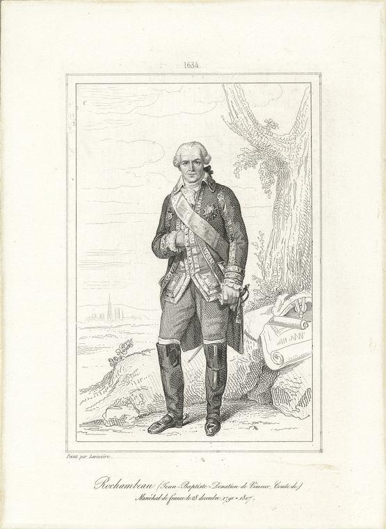 Fascinating Historical Picture of Jean-Baptiste-Donatien de Vimeur Rochambeau in 1760