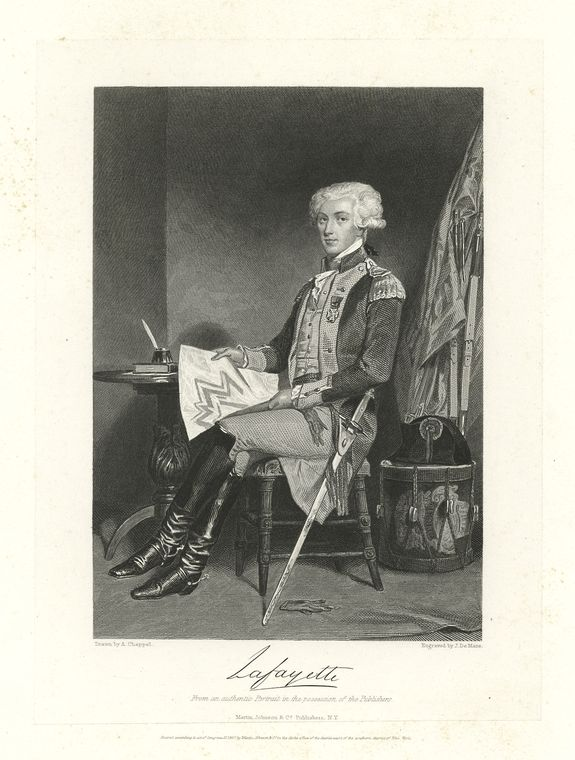 This is What Marie Joseph Paul Yves Roch Gilbert du Motier Lafa Looked Like  in 1750