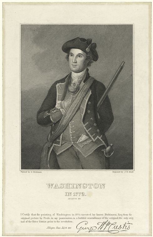 Fascinating Historical Picture of George Washington in 1772