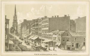 View of Broadway, 1834.