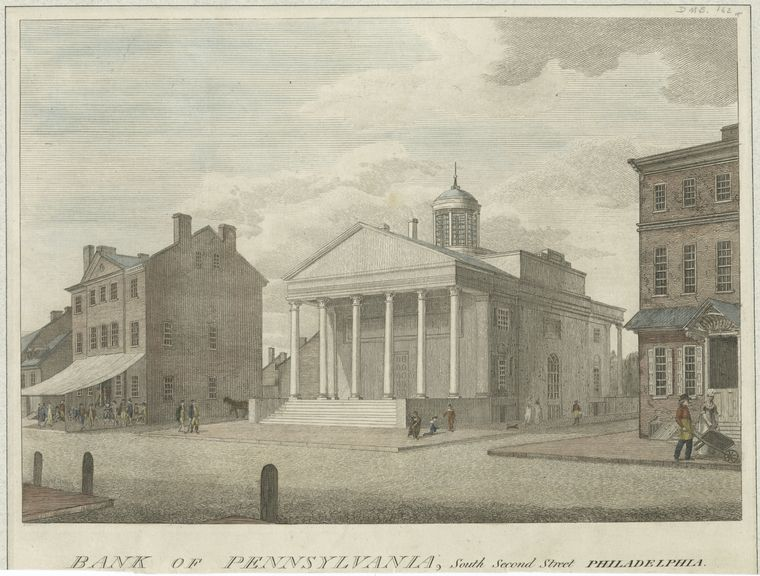 Fascinating Historical Picture of Bank of Pennsylvania in 1799