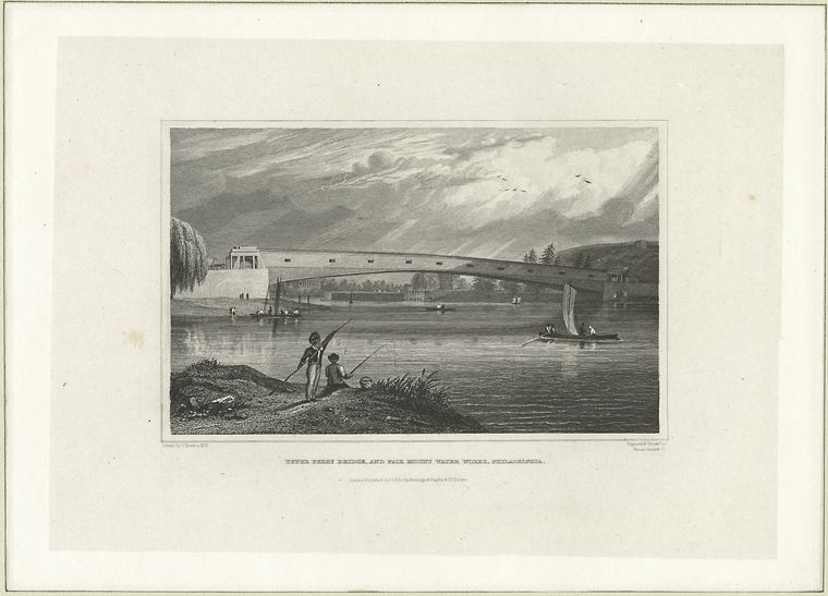 Fascinating Historical Picture of Fairmount Water Works in 1830