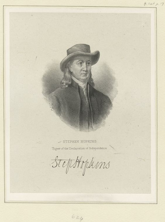 Fascinating Historical Picture of Stephen Hopkins