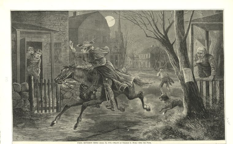 Fascinating Historical Picture of Paul Revere on 4/19/1775