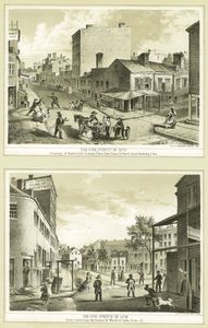 The Five Points in 1859 : crossing of Baxter (late Orange) Park (late Cross) and Worth (late Anthony) Sts. ; The Five Points in 1859 : view taken from the corner of Worth and Little Water St.