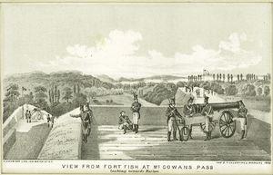 View from Fort Fish at McGowan's Pass looking towards Harlem / G. Hayward